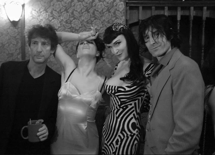 Writer Neil Gaiman, Musician Amanda Palmer, and Mr. Burke Heffner (with his paws around me)  Photo by Steve Prue.