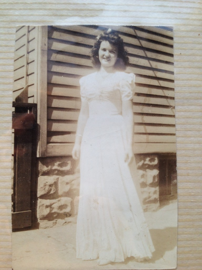 My Grandmother Helen with a magic ribbon in her hair.