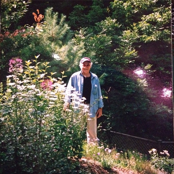 Jerry in his garden in the photo I found.