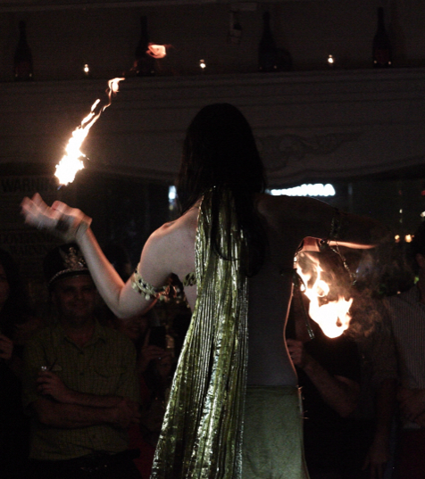 Performing at Nuit Blanche.