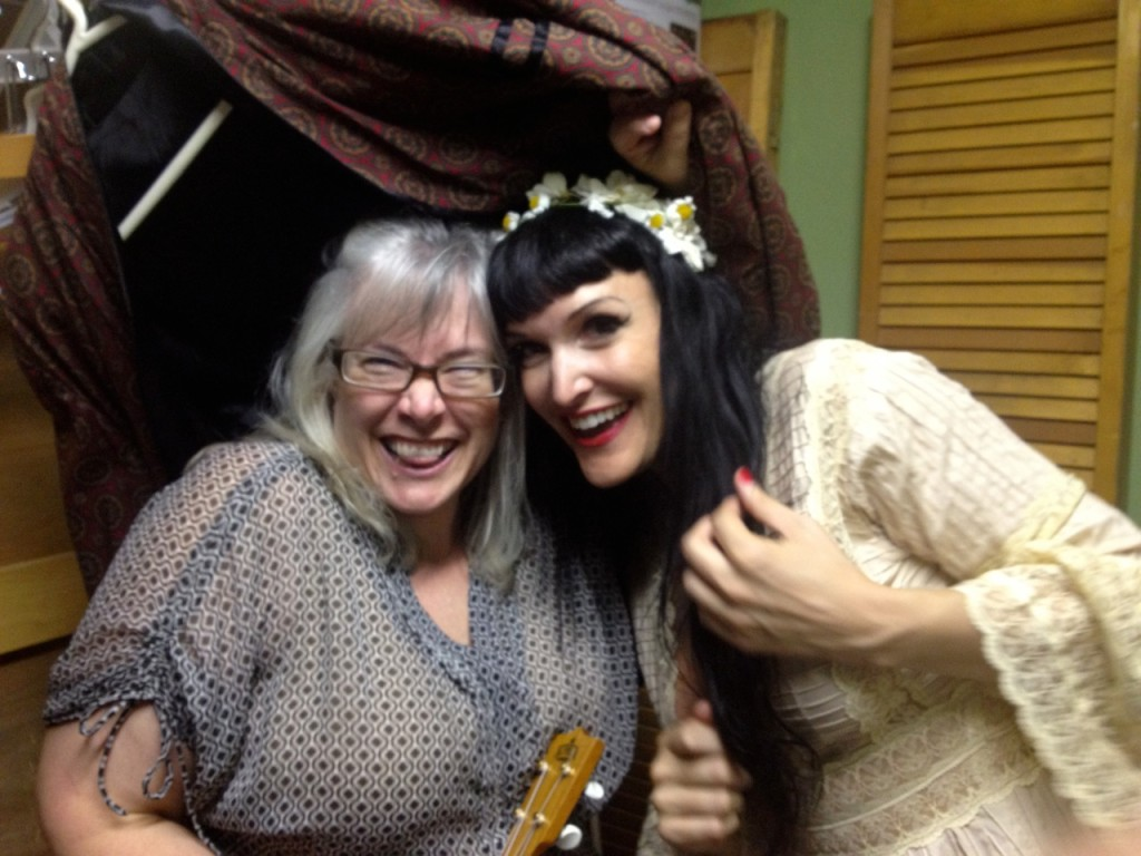 On the other side of the fear:  Babs Mansfield and me right after the show.  Wild, Happy, CELEBRATING!