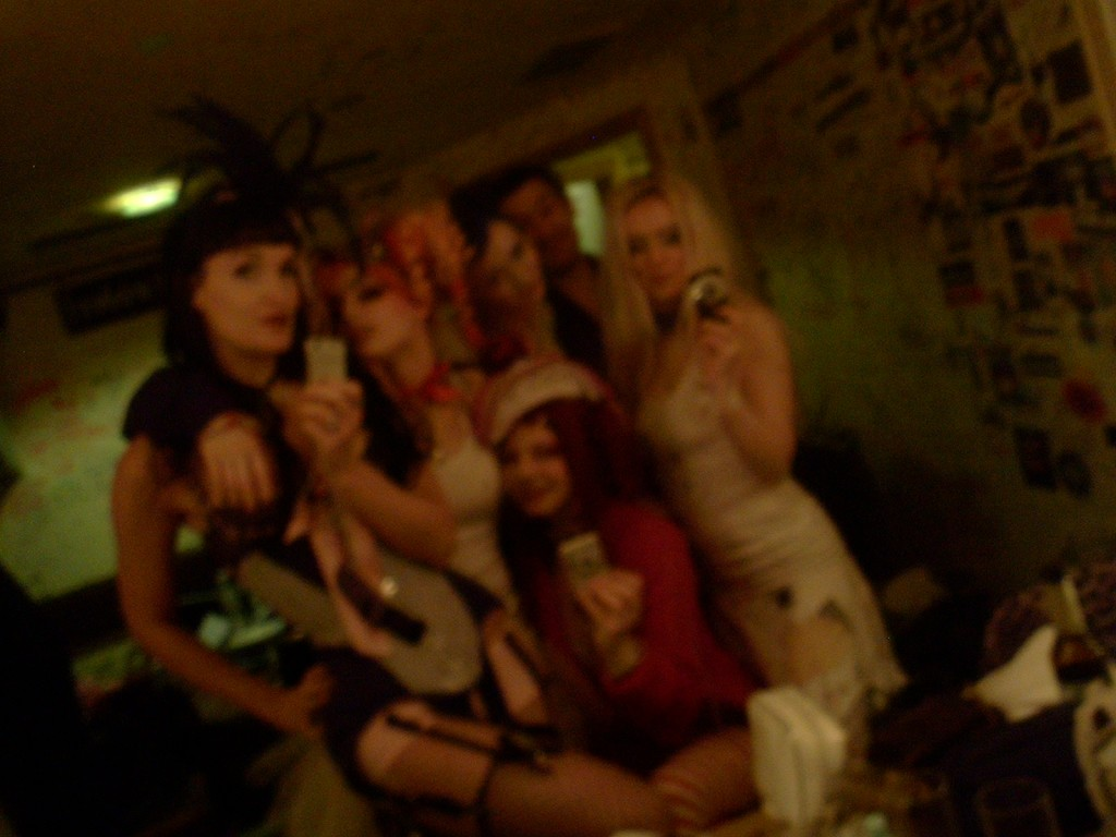 A very blurry, never seen before backstage pic from my first tour with Emilie.  December 2007.