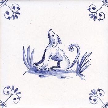 Delft-animal-tile-dog