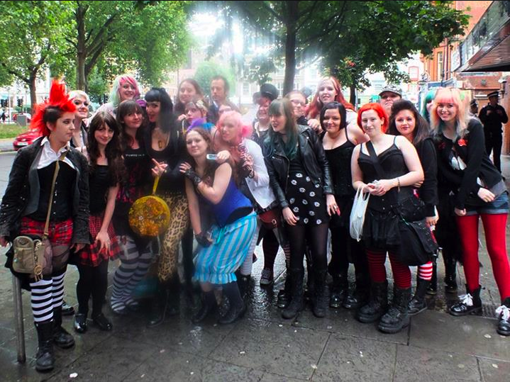 Me and my London friends outside of the show.  Photo stolen from Mistress Jade.