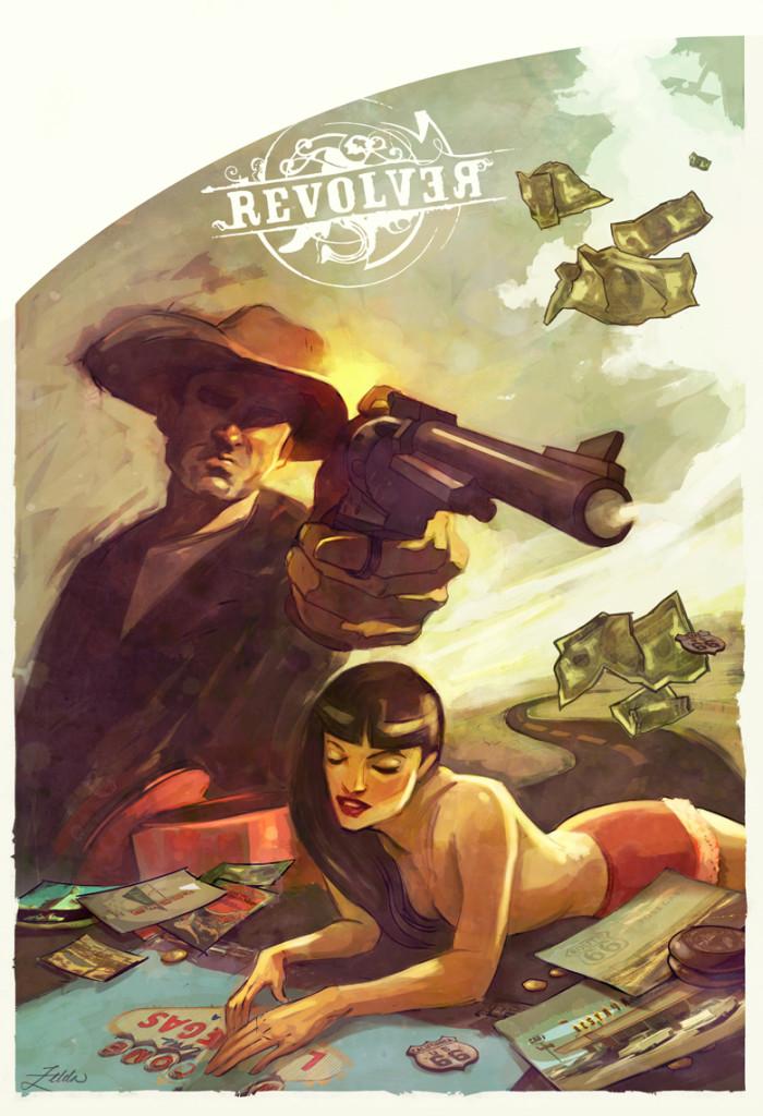 Revolver Movie Poster Print by Artist Zelda Devon, New Reward!
