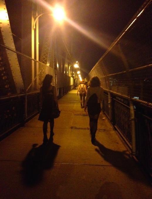 2 girls walking away