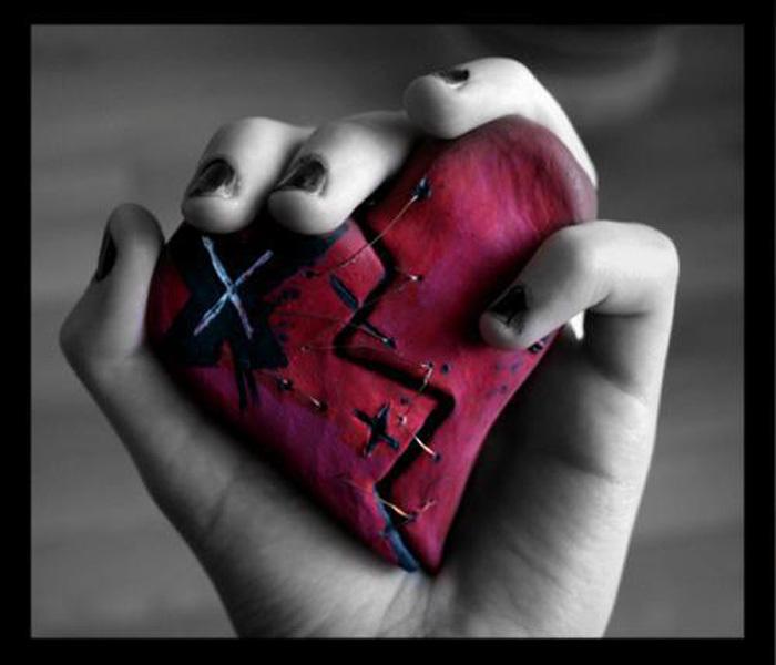 over broken heart